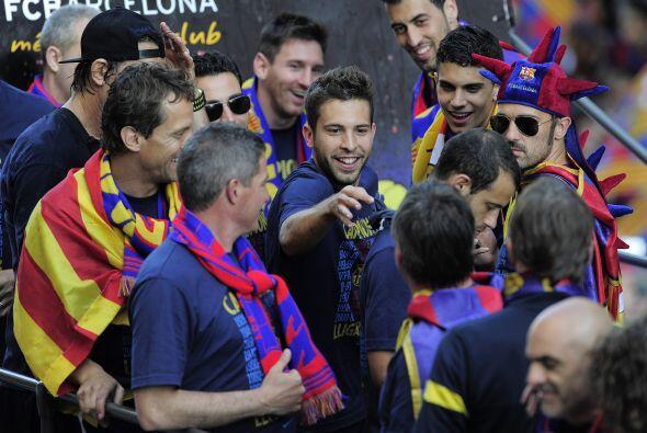 Jordi Alba, de los  jugadores que celebraron su primer título con el Bar...