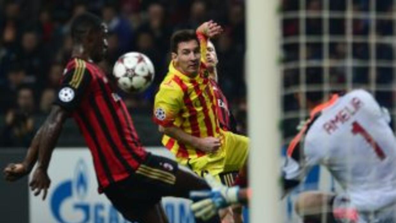 Messi marcó el gol para el empate final en el Meazza.