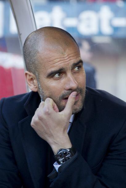 'Pep' Guardiola no pudo esconder la cara de enojo.