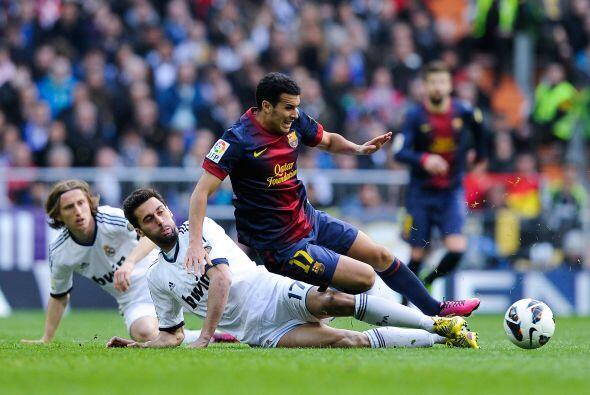 La defensa del Madrid no permitió muchas libertades.