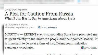 Reacciones a editorial de Putin en New York Times