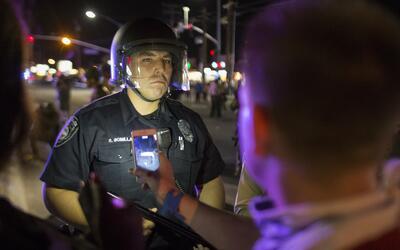 Un protesta en California, en septiembre de 2016.