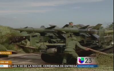 Dan inicio los ejercicios militares en Cuba
