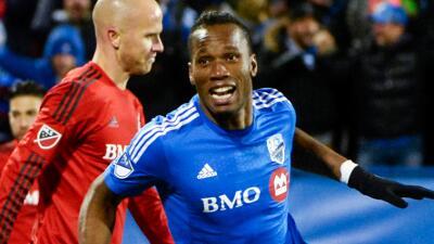 Didier Drogba celebra gol ante Toronto FC