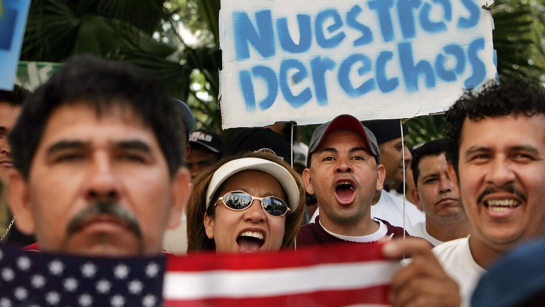 Inmigrantes indocumentados reclaman sus derechos en Estados Unidos.