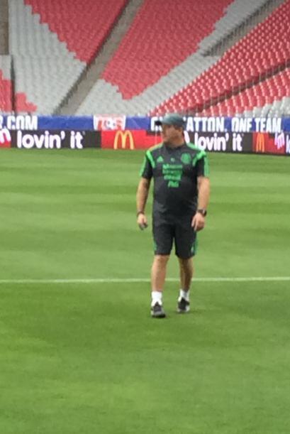 Miguel Herrera se mostró inquieto durante la parte del entrenamiento abi...
