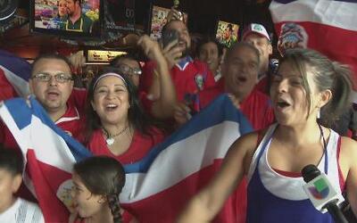 Ticos en Dallas celebran triunfo