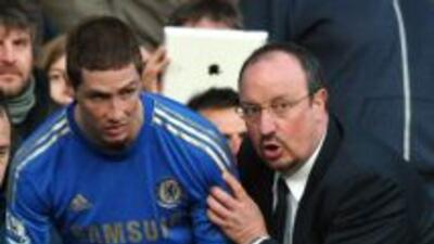 Torres y Benítez se reencontraron en el Chelsea y el delantero ha destac...