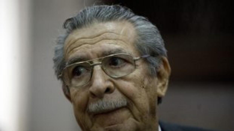 El general retirado golpista José Efraín Ríos Montt.