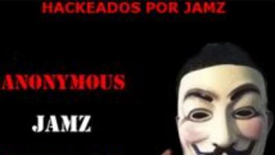 El grupo@anonopshispano confirmó el hackeo contra la página del partido...