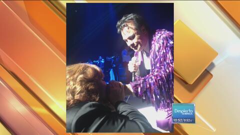Esta fue la última foto de Juan Gabriel y Angélica María en un concierto