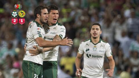 Santos logró una gran victoria ante América en el último minuto.