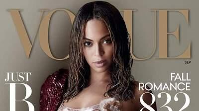 Beyoncé posó con un vestido exclusivo de Marc Jobs.