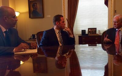 Reunión de los candidatos del PPD, David Bernier y Héctor...