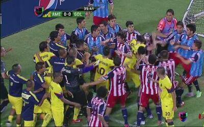 Chivas derrotó 1 - 0 al América en partido amistoso, disputado en Las Vegas
