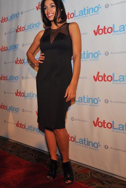 Rosario, bella vestida de negro.