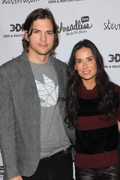 Un año después, Ashton y Demi vuelven a ser noticia por una supuesta inf...