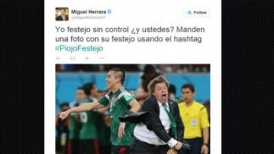 Miguel Herrera hizo viral su propia celebración. (Twitter)