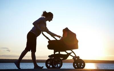 Perder peso después de tener un hijo requiere de mucha disciplina...