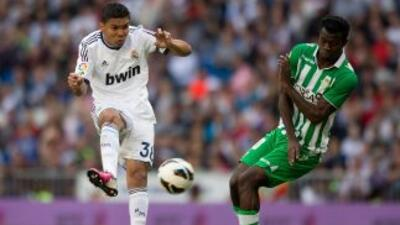 Pese a estar inscrito con el Castilla, Casemiro ya ha visto acción con e...