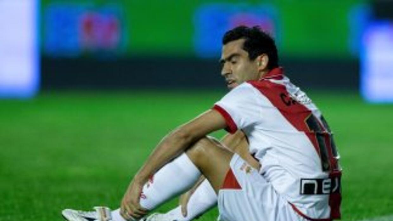 Nery Castillo no pudo hacer nada para la causa del Rayo.