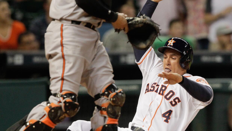 George Springer anota por los Astros de Houston gracias a un sencillo de...