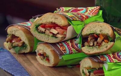 Sandwiches con pollo, queso y salsa al pesto con Ingrid Hoffmann