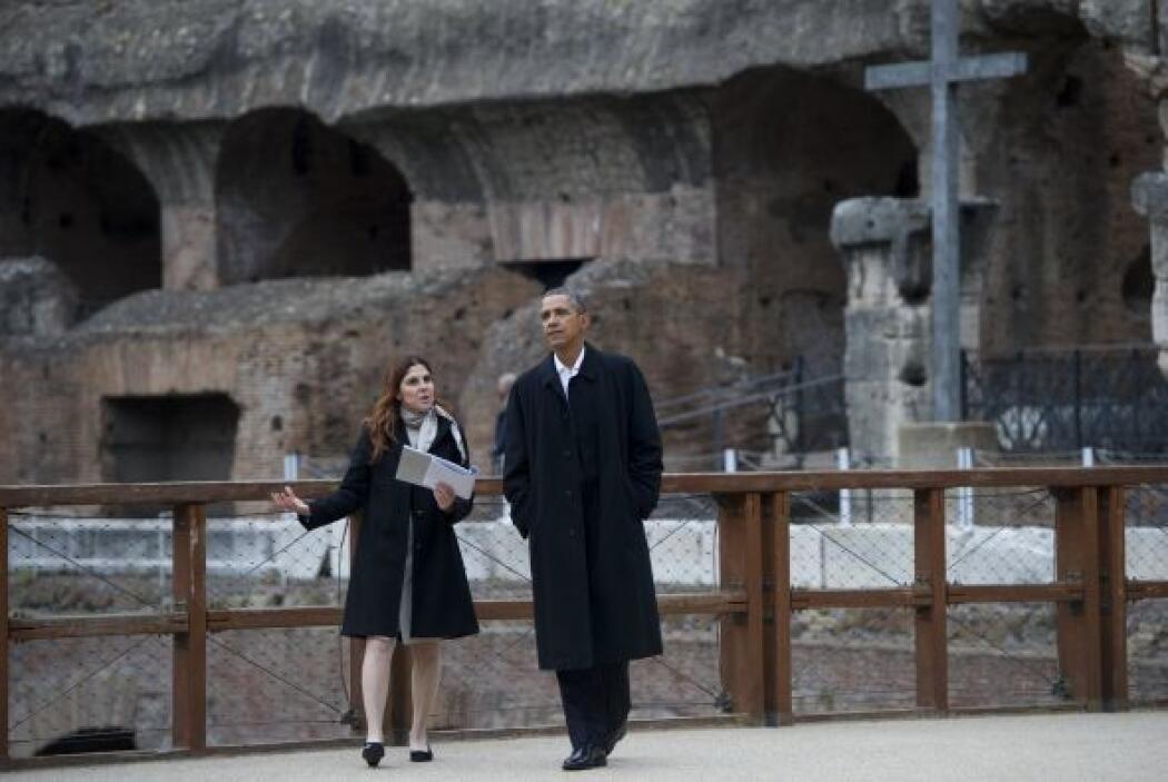 """Al pisar el Coliseo, Obama exclamó: """"Excepcional, increíble... Es más gr..."""