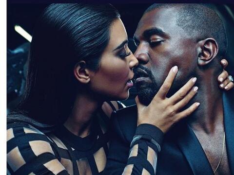 Kim y Kanye siguen siendo la pareja modelo, y ahora es literal. Miren na...