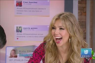 ¡Thalía gritó mucho al enterarse de su nominación a Premio Lo Nuestro!