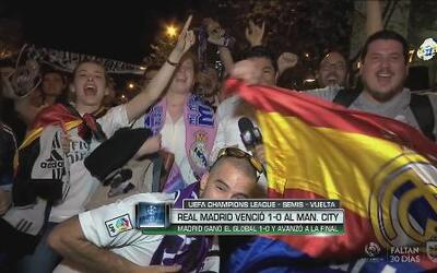 Optimismo en la afición del Real Madrid rumbo a la final de la Champions...