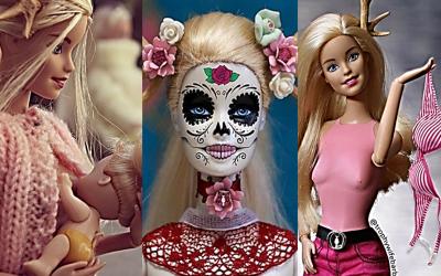 Imágenes de Barbie de la colección creada por la artista A...