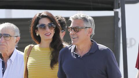 George y Amal Clooney muy románticos