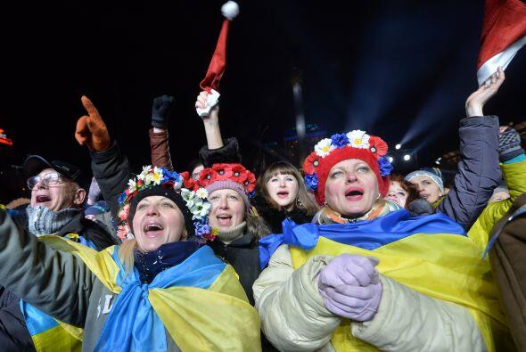 Año Nuevo en kiev, Ucrania.