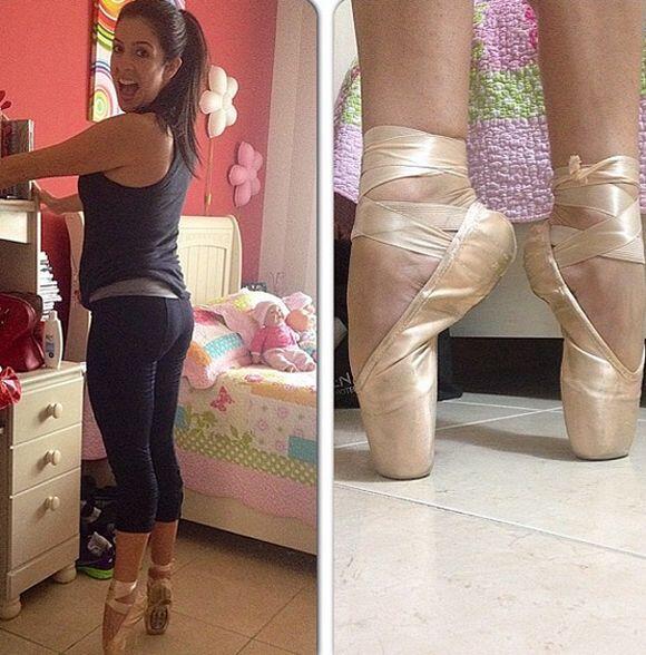 """""""¡Recordando buenos momentos! #ballet"""", compartió Maity. (Diciembre 23,..."""