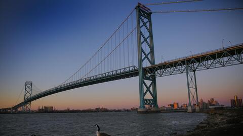 The future Gordie Howe Bridge between Windsor and Detroit will support t...
