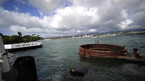 Así se ve hoy el barco bombardeado en Pearl Harbor en 1941