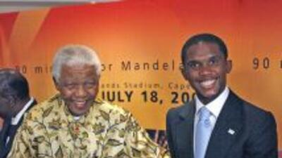Nelson Mandela, ex presidente de Sudáfrica.