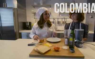 Deliciosa arepa colombiana con Ogao mejorado