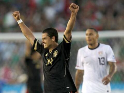 El 'Chicharito' no metió gol, pero dio un muy buen partido con to...