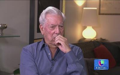 Jorge Ramos en entrevista exclusiva con Mario Vargas Llosa