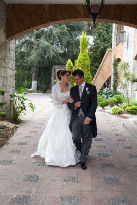 La boda del político fue de carácter privado, por lo que las imágenes de...