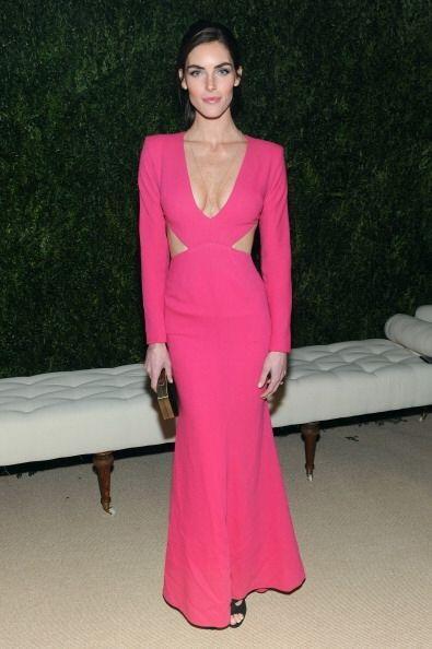 La 'top model' Hilary Rhoda, fue una de las invitadas al evento. Acudió...