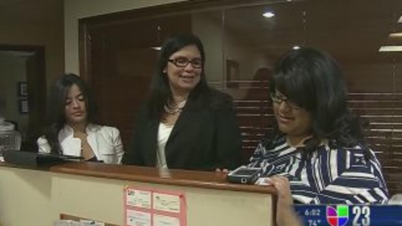 Daniela Pelaez (a mano derecha) visitó a los senadores Marco Rubio y Bil...