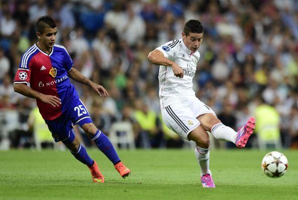 El cuadro merengue se impuso por goleada de 5-1 al Basilea con goles de...