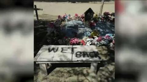 Residentes indignados por vandalización de tumbas en cementerio de Goodyear
