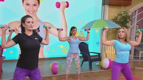 Claudia Molina revela sus trucos para tonificar la espalda, hombros y br...