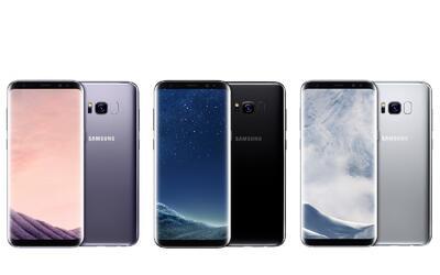 En negro, plata y gris, el Samsung S8 destaca por su diseño, en e...