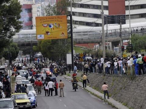 """El gobierno ecuatoriano aseguró que hoy """"hay calma en el país y en los c..."""