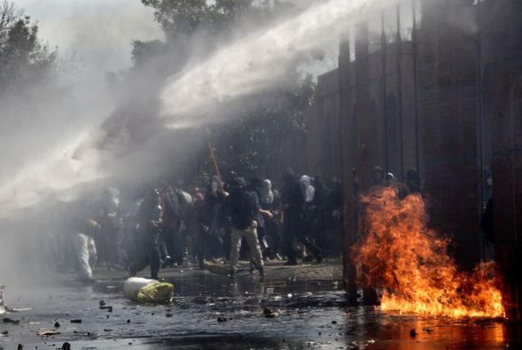 García, que asistió este domingo a la manifestación de Santiago, puntual...